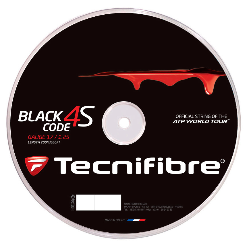 גידים למחבט Tecnifibre Black Code 4S 17 1.25mm 200M Reel